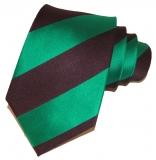 Krawatte - Clubstreifen - Marineblau/Grün
