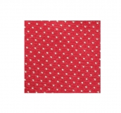 Krawatte - Rot mit weißen Dots