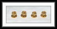 Hemdknöpfe - Knoten/goldfarben