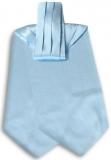 Krawattenschal - 100% Seide - Hellblau