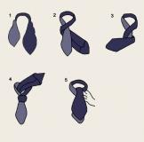 Krawattenschal - 100% Seide - Weiß mit blauen Punkten