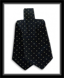 Krawattenschal - 100% Seide - Schwarz mit hellgelben Punkten