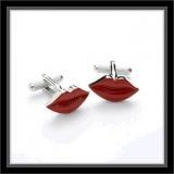 Manschettenknöpfe - rote Lippen