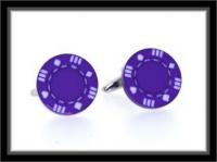 Manschettenknöpfe - Poker Chip purple