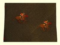 Krawatte - Grün/Pferderennen