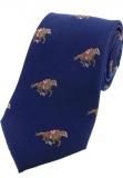 Krawatte - Pferderennen auf blauem Grund