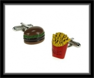 Manschettenknöpfe - Burger/Pommes