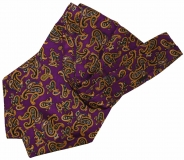 Krawattenschal - 100% Seide - Purple mit Paisleymuster