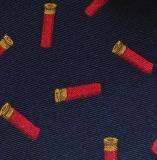 Krawatte mit Jagdmotiv - Navy/rote Schrotpatronen