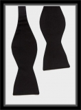Smokingschleife groß - Schwarz - 100% Barathea Seide
