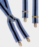 Hosenträger - Hellblau/Marineblau gestreift