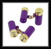 Manschettenknöpfe - Schrotpatrone Purple