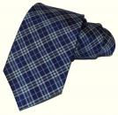 Krawatte - Blau/Grün/Gelb gestreift
