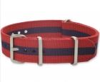 Textiles Uhrenarmband - Nato Strap - Rot/Marineblau