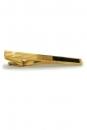 Krawattenklammer - goldfarben mit Halbedelstein Onyx