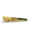 Krawattenklammer - goldfarben mit Halbedelstein Jaspis