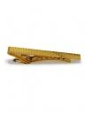 Krawattenklammer - goldfarben geriffelt