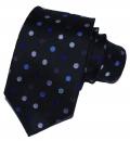 Krawatte - Schwarzer Grund mit bunten Punkten