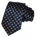 Krawatte - Marineblau mit Muster