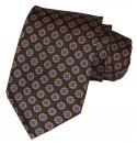 Krawatte - Buntes Muster auf grünem Grund