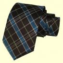 Krawatte - Braun/Blau/Grün/Weiß gestreift