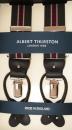 Hosenträger - Albert Thurston - Grün/Khaki/Weinrot - 2 in 1