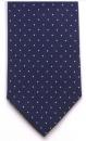 Krawatte - Weiße Tupfen auf blauem Grund