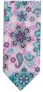 Krawatte - Muster auf lila Grund