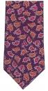 Krawatte - Paisleymuster auf lilanem Grund