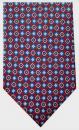 Krawatte - Muster auf rotem Grund