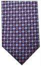Krawatte - Muster auf weinrotem Grund