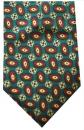 Krawatte - Muster auf grünem Grund