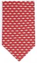 Krawatte - Fische auf rotem Grund