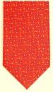 Krawatte - Trensensymbol auf rotem Grund