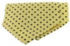 Krawattenschal - 100% Seide - schwarze Punkte auf gelbem Grund