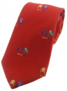 Krawatte - Jockey-Shirts auf rotem Grund