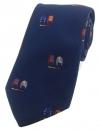 Krawatte - Jockey-Shirts auf marineblauem Grund