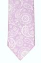 Krawatte - Weißes Paisleymuster auf lila Grund