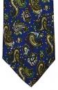 Krawatte - Paisley auf blauem Grund