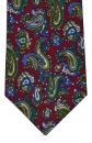 Krawatte - Paisley auf rotem Grund