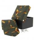 Geschenkset Jagd - Krawatte, Manschettenknöpfe, Box