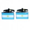 Manschettenknöpfe - Argentinienflagge