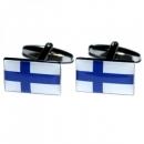 Manschettenknöpfe - Finnlandflagge