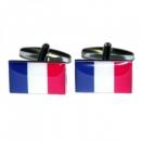 Manschettenknöpfe - Frankreichflagge