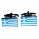 Manschettenknöpfe - Griechenlandflagge