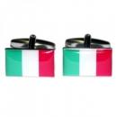 Manschettenknöpfe - Italienflagge