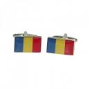 Manschettenknöpfe - Rumänienflagge