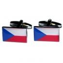 Manschettenknöpfe - Tschechienflagge