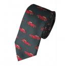 Krawatte - Roter Porsche auf grünem Grund