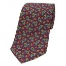 Krawatte - Paisley auf weinrotem Grund